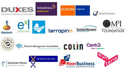 Some of Badge2Match Clients: Astra Zeneca - Elsevier Congresses - Reed Business - Rabobank - Exl Pharma - Winkelman & Van Hessen - Terrapinn - SenterNovem - MPI Foundation - Telecom Management Association - Colin  - Centiq - Deutsche Messe - MeerBusiness - Syntens - CBI - Beacon - CCH